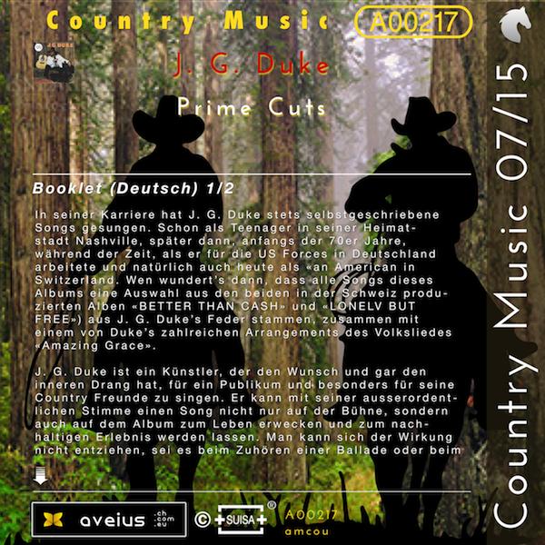 A00217 — Country Music 07/15 — J  G  Duke, Prime Cuts — Audio, Music
